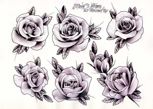 Mason Williams Roses Gentlemans Tattoo Flash