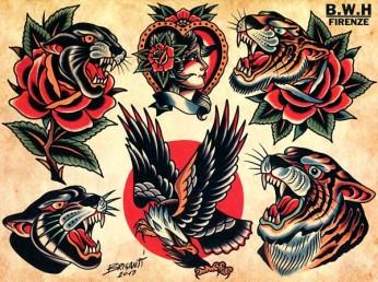 Trad Flash Traditional Tattoo Flash Gentlemans Tattoo Flash