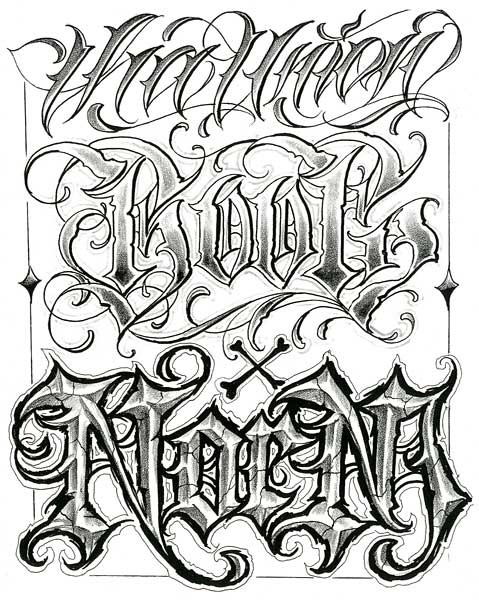 Lettering Tattoo Big Meas Tattoos Gallery